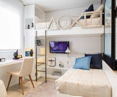 """Fantastic """"bunk bed designs space saving"""" info is available on our internet site. Take a look and you wont be sorry you did. Bedroom Loft, Dream Bedroom, Bedroom Decor, Bunk Bed Designs, Girl Bedroom Designs, Bunk Rooms, Bunk Beds, Small Room Design, Loft Spaces"""