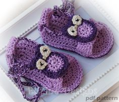 Crochet pattern crochet owl sandalscrochet for by elifinedesigns Baby Sandals, Baby Shoes, Crochet Sandals, Girl Shower, Crochet Fashion, Shower Gifts, Baby Things, Beautiful Babies, Baby Knitting