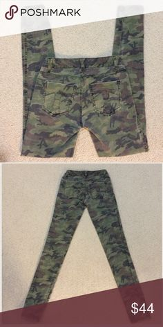 TRIPP NYC Camo skinnies Gently worn , size 26/3 inseam is 32 inches, skull stud design, cotton and spandex , stretchy, TRIPP NYC Tripp nyc Pants