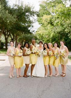 yellow bridesmaid dresses, shot by EricKelleyPhotography.com