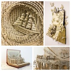 Take a look at wonderful book sculptures by Thomas Wightman  #bookart