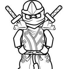 Lego Ninjago Coloring Pages Cole Zx 3 crafty kids Pinterest