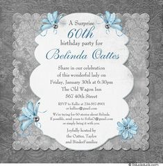 Surprise Birthday Party Invitations Hi Everyone Please Come And Join Us At Mrs Tanner 60 Years Old This Is A
