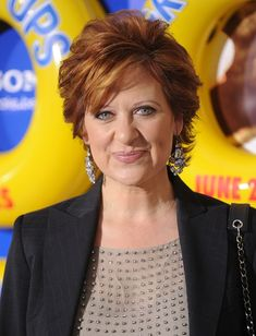 Caroline Manzo Short Wavy Cut - Caroline Manzo looked super polished with her high-volume short wavy 'do at the 'Grown Ups' premiere. Short Haircut Styles, Cute Short Haircuts, Long Hair Styles, Trending Hairstyles, Pixie Hairstyles, Short Wavy, Short Hair Cuts, Cut My Hair, New Hair