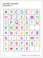 Free 1in x 1in printable alphabet tiles. Upper and lowercase, color and black and white