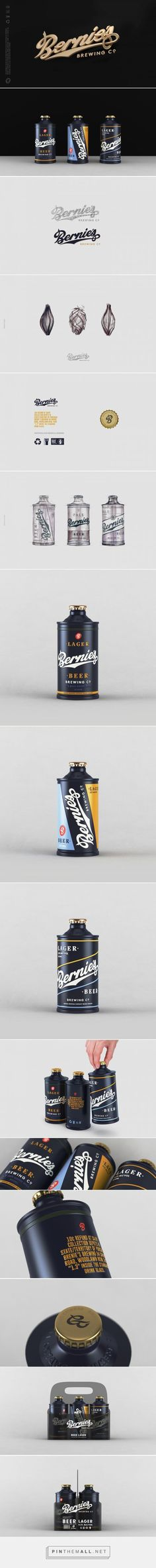 Bernie's Beer Packaging by Erik Musin | Fivestar Branding Agency – Design and Branding Agency & Curated Inspiration Gallery
