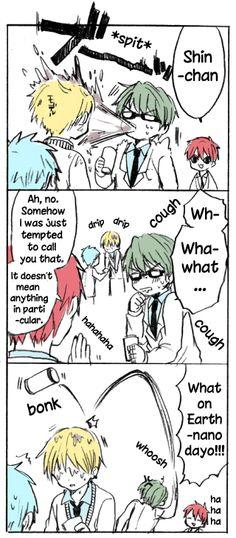 #Kise #Akashi #Midorima #Kuroko ... Poor Kise :( XD