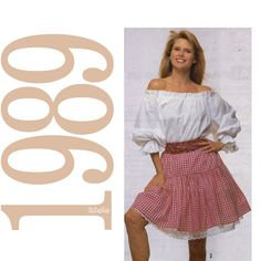 skirts from1989 | 80s Christie Brinkley Skirt Vintage Pattern MULTISIZE Simplicity 9168 ...