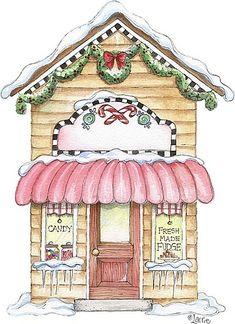 Christmas House Drawings Printable-Stock and drawings to print Christmas Graphics, Christmas Clipart, Pink Christmas, Christmas Printables, Christmas Time, Vintage Christmas, Christmas Crafts, Christmas Decorations, Christmas Ornaments