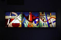 In portaal Oranjekerk | Dit vlakglaskunstwerk in de portaal … | Flickr - Photo Sharing!