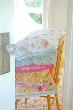sweet pillow cases. Could make them from sheets or fabric remnants.