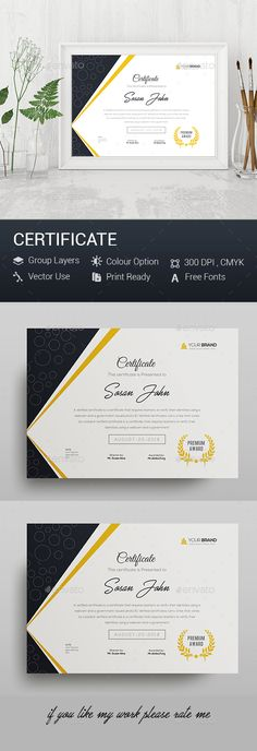 #Certificate - #Certificates Stationery Download here: https://graphicriver.net/item/certificate/20321947?ref=alena994