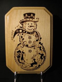Fab Christmas pyrography. I love all the extra design elements.