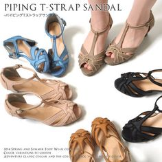 T strap Sandals Womens piping retro peep toe summer Sandals ethnic pumps Womens Gladiator sandal Office ladies 2016 legs flat shoes 2016 spring/summer