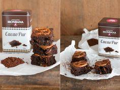 Prezel-Brownies mit Karamellschicht & MONBANA-Kakao