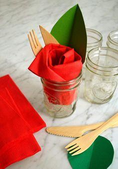 pliage serviette papier verre