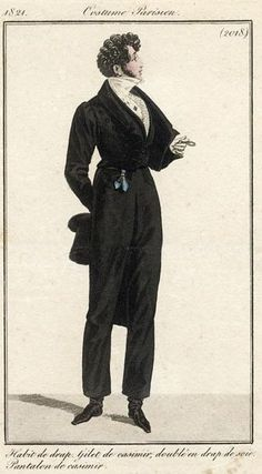 Men's ensemble, 1821.