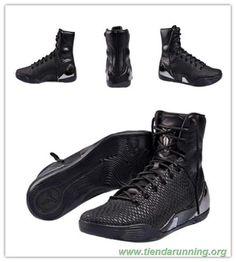"Negro/Negro ""Negro MAMBA"" NIKE KOBE 9 HIGH KRM EXT 716993-001 tienda zapatillas running"