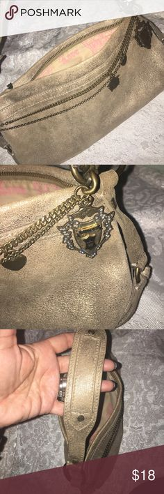 Fun Juicy Couture Handbag This is a cute and fun handbag, Juicy Couture, pre/loved. Please look at all the people and let me know if you have any questions. Is an authentic bag, no missed representation at all. Thanks Juicy Couture Bags