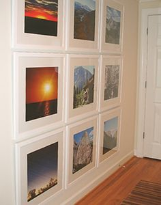 Vacation photos display, would love to put in the master bed or in the guest area
