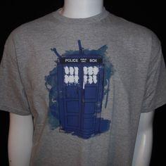 Doctor Who Tardis T-Shirt Medium Police Box Public Call BBC Worldwide Ltd. #DrWho