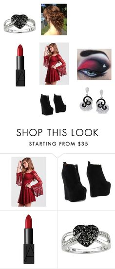 """""""One Year Anniversary With Raph"""" by maryvarleyrox ❤ liked on Polyvore featuring Jeffrey Campbell, NARS Cosmetics, Ice and Miadora"""