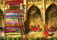 My Paisley World: The Princess and the Pea by yakkingyetis