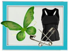For the Tinkerbell Half Marathon: how-to-wear-wings-and-run!! I used fishing line to tie the wings back so they're more behind me, less likely to hit other runners, and cut down on wind resistance!