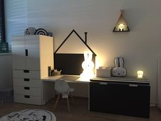 Black&white kids room #twocolours