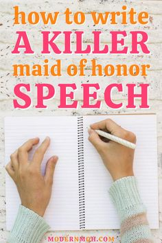 How to write a maid of honor speech that will totally wow! Follow our simple 5-step method to writing and delivering an epic MOH speech, including some important dos and don\'ts #howtowriteamaidofhonorspeech #maidofhonorspeechforbestfriend #maidofhonorspeechforsister #ModernMaidofHonor #ModernMOH Maid Of Honor Speech, Matron Of Honour, How We Met, Fancy Words, Wedding Toasts, People Laughing, Great Friends, Wedding Images, Happily Ever After