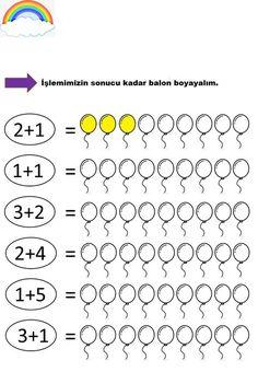 Preschool Learning Activities, Kindergarten Worksheets, Worksheets For Kids, Preschool Activities, First Grade Math Worksheets, Learning English For Kids, Numbers Preschool, Math For Kids, Kids Fun