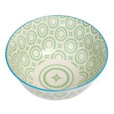 Large Japanese Bowl Green Circles | DotComGiftShop