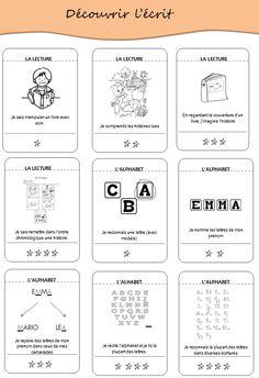 cahier de réussites 1 et (CIN) PER compatible! Free Frames, Petite Section, Learning Objectives, Teaching French, Montessori, Ms Gs, Alphabet, Kindergarten, Homeschool