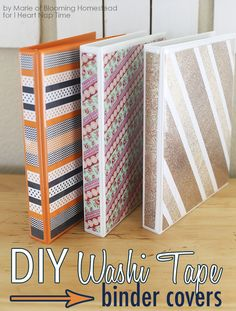 Customize your back to school binders with this DIY washi tape binder cover tutorial by I Heart Naptime. Endless design possibilities for the creative mind and washi tape lover. Binder Decoration, Washi Tape Crafts, Washi Tapes, Diy Back To School, Diy School Supplies, Idee Diy, Duck Tape, School Organization, Fun Crafts