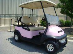 Fancy Pink Custom Golf Carts http://www.kingofcarts.net