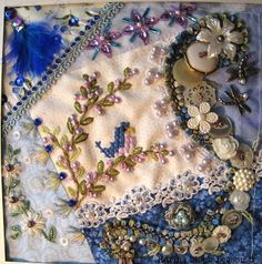 Crazy Quilting and Embroidery Blog by Pamela Kellogg of Kitty and Me Designs: Lesson 5 Karin's Block
