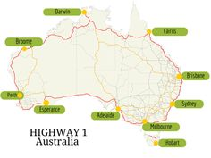 It will take weeks to drive around Australia. This doesn't include the best places to visit in Australia. months is just enough time to do the trip. Perth, Brisbane, Sydney, Melbourne, Motorcycle Camping, Camping Gear, Backpacking, Cairns, Facts About Australia