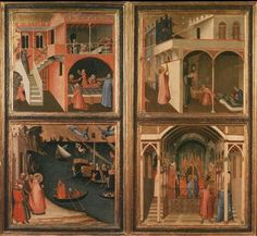 Ambrogio Lorenzetti: Four stories in the life of St. Nicholas, 1330