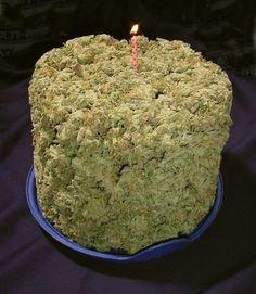 Super Brick Birthday Marijuana Cake With Candle