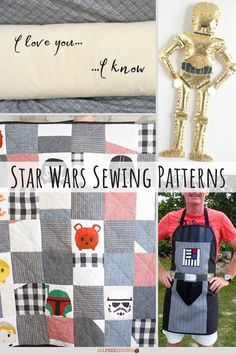 If you're a Star Wars fan, then you must check out these awesome 12+ Star Wars Sewing Patterns! Sewing Projects For Kids, Sewing For Kids, Sewing Ideas, Star Wars Quilt, Quilt Patterns, Sewing Patterns, Star Wars Costumes, The Force Is Strong, Costume Patterns