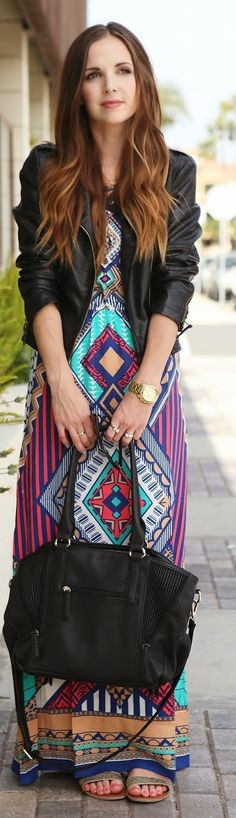 Kiki La'Rue Ethnic Print Maxi Dress. #Modest doesn't mean frumpy! #DressingWithDignity on.fb.me/1lfqxT2