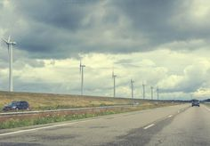 Check out Road with windturbines by Patricia Hofmeester on Creative Market