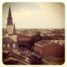 View from the rooftop at Omni Royal Orleans Hotels #frenchquarter #NOLA