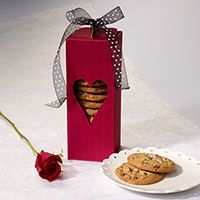 Fill this beautiful With Every Beat of My Heart Cookie Gift Box with a selection of 1 dozen delicious cookies made from decadent Guittard chocolates, sweet creamery butter, and pure vanilla.   $19.95  http://www.pacificcookie.com/product/BEAT/WithEveryBeatofMyHeartCookieGiftBox.aspx