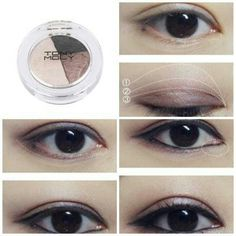 TONYMOLY how to do soft smoky eye make up - Korean Make Up