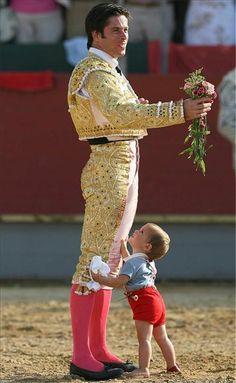 The torero Canales Rivera and son.