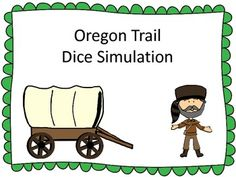 Lindsey- sounds kind of like what you are looking for.  Costs money though.  Maybe it wld trigger some ideas for you.  Oregon Trail Dice Simulation $