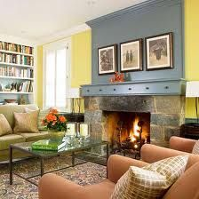 Fireplace idea - hmm...paint - 1 color above FP, rest of wall matched room?