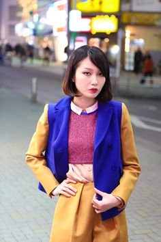 Love all the color combination. かわいいー! (www.2dayslook.com)