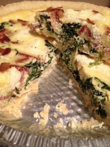 Quiche - spinach, bacon & goat's cheese